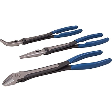 Gray Tools 3 Piece Heavy Duty Long Reach Plier Set