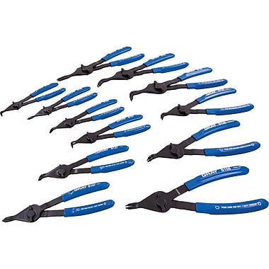 Gray Tools 12 Piece Retaining Ring Plier Set, Convertible Internal/external, Fixed Tips