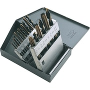 Gray Tools – Ensemble mixte de 18 forets et tarauds à main, 9 tarauds 6-32 à 1/2 po, 13 à filets rectifiés