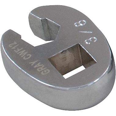 Gray Tools – Prise de 3/8, clé pied-de-biche pour écrous évasés de 1/2 po, fini chromé