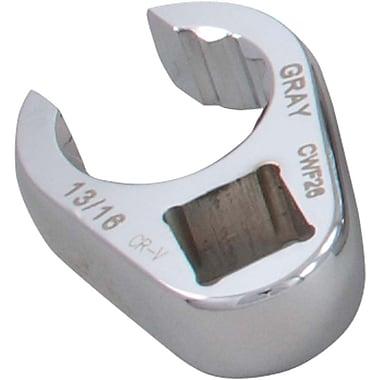 Gray Tools – Clé polygonale ouverte en patte-d'oie de 1 1/16 po, prise 1/2 po, fini chromé