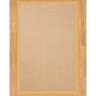 Natural Area Rugs Sisal Cashmira Beige Area Rug; Rectangle 5' x 8'
