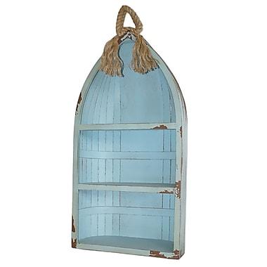 Cheungs Coastal Canoe 34'' Accent Shelves Bookcase