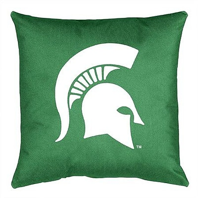 Sports Coverage NCAA Michigan State Throw Pillow
