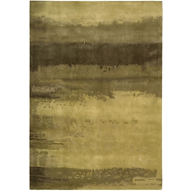 Calvin Klein Rugs Luster Wash Citrine Wash Gold Area Rug; Rectangle 3' x 5'
