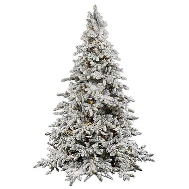 Vickerman Flocked Utica 4.5' Green Fir Artificial Christmas Tree w/ 250 LED White Lights w/ Stand