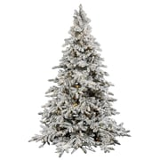 Vickerman Flocked Utica 4.5' Green Fir Artificial Christmas Tree w/ 250 LED White Lights w/ Stand
