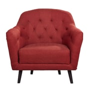 Gold Sparrow Aurora Armchair; Rustic Red