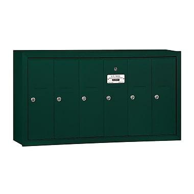 Salsbury Industries 6 Door Front Load Vertical Mail Center; Green