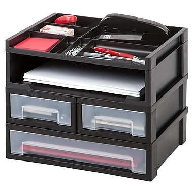 IRIS® Desktop Set with Organizer Top, Black (150077)