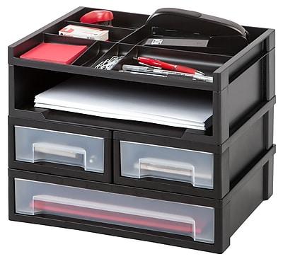 IRIS® Desktop Set with Organizer Top, Black (150077)