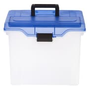 Staples® Handy File Box, Letter Sized, Clear w/organizer Lid
