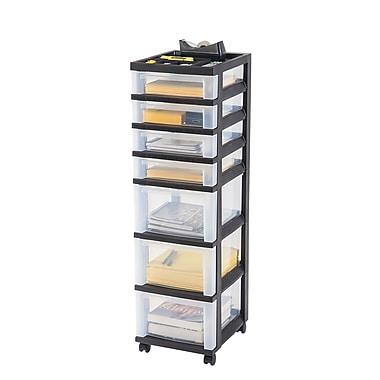 Iris 7 Drawer Storage Cart Black 585640