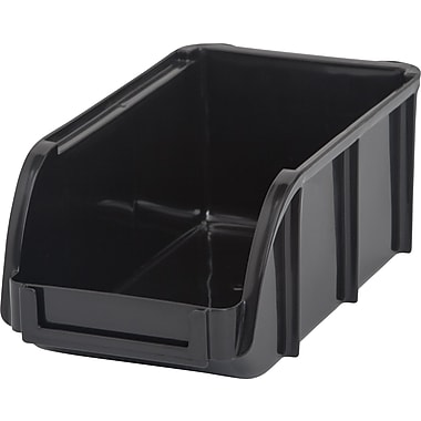Staples® Small Stacking Bin, Black (110065)