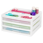 IRIS® Scrapbook Table Chest with Organizer Top, White, 2 Pack (150689)