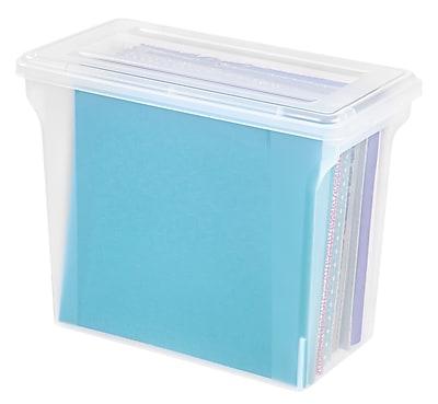 IRIS® 12x12 Scrapbook File Box, Clear, 4 Pack (150622)