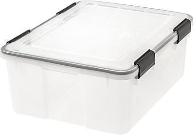 IRIS® 30 Quart Weathertight Plastic Storage Box, 6 Pack (110400)