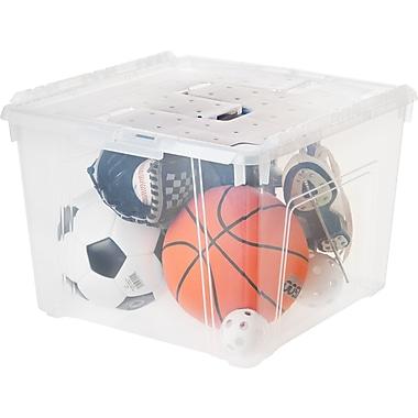 IRIS® 60 Quart Wing Lid Storage Box, Clear, 6 Pack (139851)