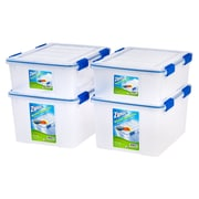 Ziploc® WeatherShield Storage Box Stacking Set, 26.5 Quart & 44 Quart (394070)