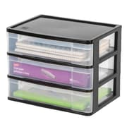 Staples 3-Drawer Wide Desktop Chest