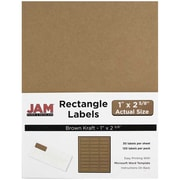JAM Paper® Mailing Address Labels, 1 x 2 5/8, Brown Kraft, 120/pack (4513701)