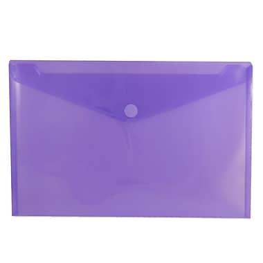 JamMD – Enveloppes en plastique de style livret à fermeture velcro, 9 3/4 x 11 1/2 po, violet