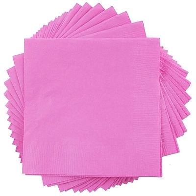 JAM Paper® Square Lunch Napkins, Medium, 6.5 x 6.5, Fuchsia Pink, 50/pack (255621948)