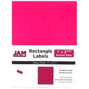 JAM Paper® Mailing Address Labels, 1 x 2 5/8, Neon Pink, 120/pack (354328011)