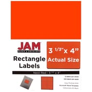 JAM Paper® Mailing Address Labels, 3 1/3 x 4, Neon Red, 120/pack (354328040)