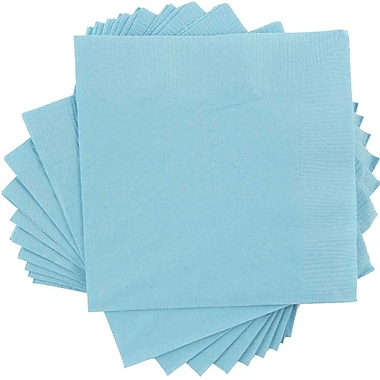 JAM Paper® Square Lunch Napkins, Medium, 6.5 x 6.5, Sea Blue, 50/pack (6255620712)