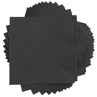 JAM Paper® Square Lunch Napkins, Medium, 6.5 x 6.5, Black, 50/pack (6255620716)