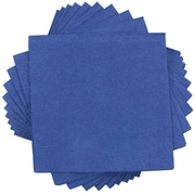 JAM Paper® Square Lunch Napkins, Medium, 6.5 x 6.5, Blue, 50/pack (6255620718)