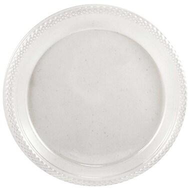 JAM Paper® Round Plastic Plates, Medium, 9 Inch, Clear, 20/pack (9255320679)
