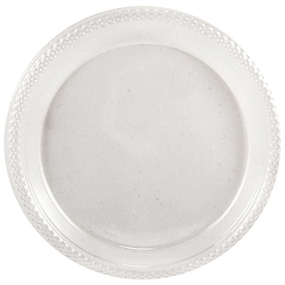 //.staples-3p.com/s7/is/  sc 1 st  Staples & JAM Paper® Round Plastic Plates Small 7 Inch Clear 20/pack ...