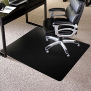"ES Robbins Rectangle Chair Mat, Low Pile Carpet Application, 36"" x 48"", Black"