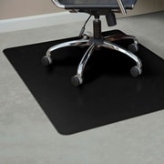 "ES Robbins Rectangle Chair Mat, Hard Floor Application, 36"" x 48"", Black"