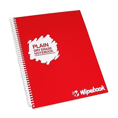 Wipebook Light - Cahier de notes ordinaire à effacement sec, réutilisable, 8,5 po x 11 po, 16 feuilles, rouge framboise