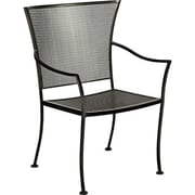 Woodard Amelie Stacking Dining Arm Chair; Graphite