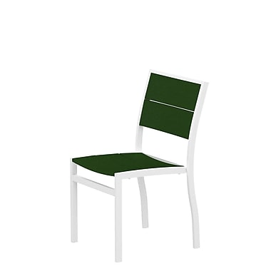 Trex Surf City Patio Dining Chair; Textured White/Rainforest Canopy