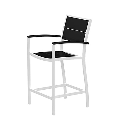 Trex Surf City Bar Stool; Textured White/Charcoal Black