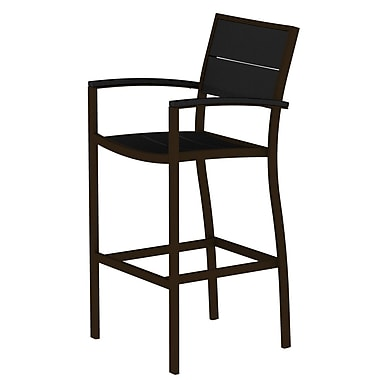 Trex Surf City 46'' Bar Stool; Textured Bronze/Charcoal Black