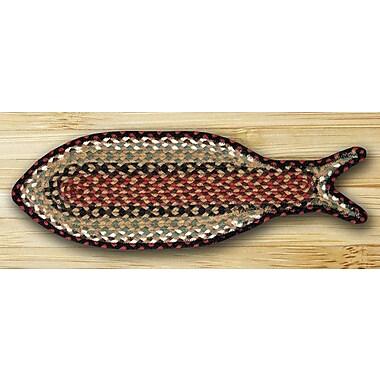 EarthRugs Braided Burgundy/Mustard Area Rug; Novelty 9'' x 2'2''