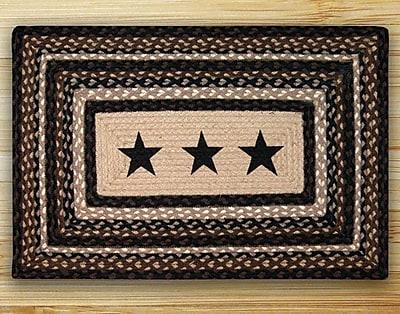 EarthRugs Black Stars Patch Area Rug; Rectangle 2'3'' x 3'9''