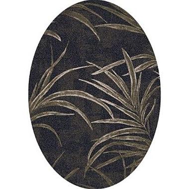 Milliken Pastiche Rain Forest Ebony Oval Rug; Oval 5'4'' x 7'8''