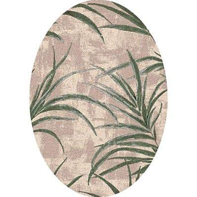 Milliken Pastiche Rain Forest Alabaster Oval Rug; Oval 3'10'' x 5'4''