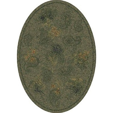 Milliken Pastiche Vintage Cilantro Oval Rug; Oval 5'4'' x 7'8''