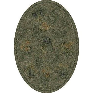 Milliken Pastiche Vintage Cilantro Oval Rug; Oval 3'10'' x 5'4''