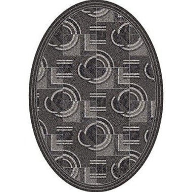 Milliken Pastiche Modernes Smog Contemporary Oval Rug; Oval 3'10'' x 5'4''