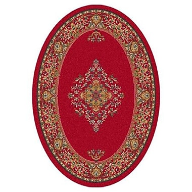 Milliken Pastiche Merkez Currant Red Oval Rug; Oval 3'10'' x 5'4''