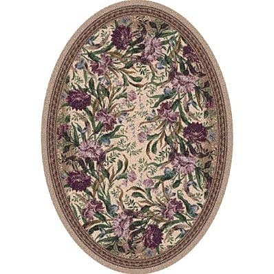 Milliken Pastiche Barrington Court Heathered Rose Oval Rug; Oval 5'4'' x 7'8''